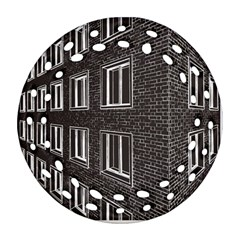 Graphics House Brick Brick Wall Round Filigree Ornament (two Sides)