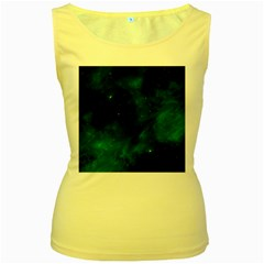 Space All Universe Cosmos Galaxy Women s Yellow Tank Top