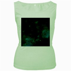 Space All Universe Cosmos Galaxy Women s Green Tank Top by Nexatart