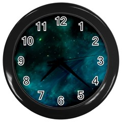 Space All Universe Cosmos Galaxy Wall Clocks (black) by Nexatart