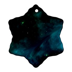 Space All Universe Cosmos Galaxy Snowflake Ornament (two Sides)