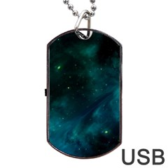Space All Universe Cosmos Galaxy Dog Tag Usb Flash (one Side) by Nexatart