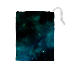 Space All Universe Cosmos Galaxy Drawstring Pouches (large)
