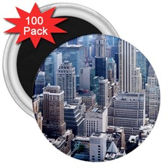 Manhattan New York City 3  Magnets (100 Pack) by Nexatart