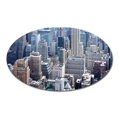 Manhattan New York City Oval Magnet