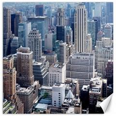 Manhattan New York City Canvas 16  X 16