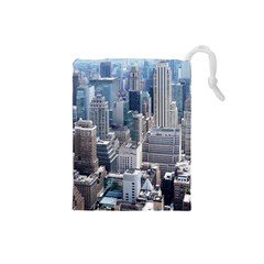 Manhattan New York City Drawstring Pouches (small)