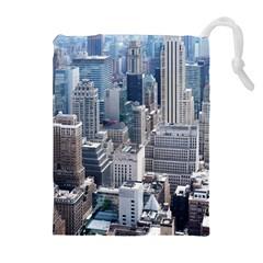Manhattan New York City Drawstring Pouches (extra Large)