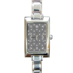 Seamless Weave Ribbon Hexagonal Rectangle Italian Charm Watch
