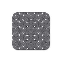Seamless Weave Ribbon Hexagonal Rubber Square Coaster (4 Pack)  by Nexatart