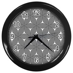 Seamless Weave Ribbon Hexagonal Wall Clocks (black)