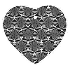 Seamless Weave Ribbon Hexagonal Heart Ornament (two Sides)