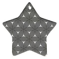 Seamless Weave Ribbon Hexagonal Star Ornament (two Sides)