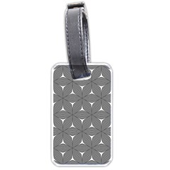 Seamless Weave Ribbon Hexagonal Luggage Tags (one Side)  by Nexatart