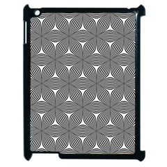Seamless Weave Ribbon Hexagonal Apple Ipad 2 Case (black) by Nexatart