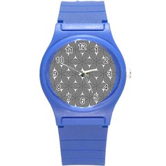 Seamless Weave Ribbon Hexagonal Round Plastic Sport Watch (s) by Nexatart
