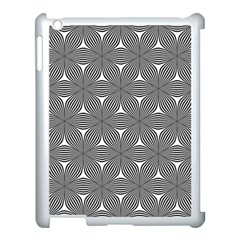 Seamless Weave Ribbon Hexagonal Apple Ipad 3/4 Case (white)