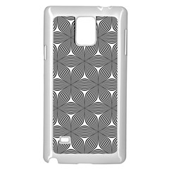 Seamless Weave Ribbon Hexagonal Samsung Galaxy Note 4 Case (white) by Nexatart