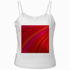 Abstract Red Background Fractal White Spaghetti Tank
