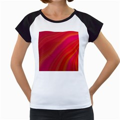 Abstract Red Background Fractal Women s Cap Sleeve T
