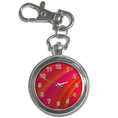 Abstract Red Background Fractal Key Chain Watches