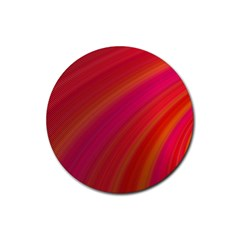 Abstract Red Background Fractal Rubber Coaster (round)  by Nexatart