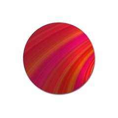 Abstract Red Background Fractal Magnet 3  (round)