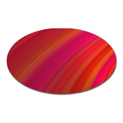 Abstract Red Background Fractal Oval Magnet by Nexatart