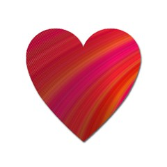 Abstract Red Background Fractal Heart Magnet