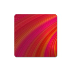 Abstract Red Background Fractal Square Magnet by Nexatart