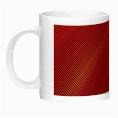 Abstract Red Background Fractal Night Luminous Mugs