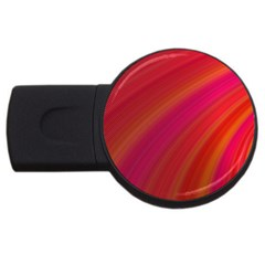 Abstract Red Background Fractal Usb Flash Drive Round (4 Gb)