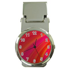 Abstract Red Background Fractal Money Clip Watches
