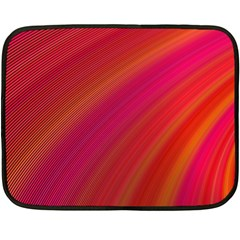 Abstract Red Background Fractal Double Sided Fleece Blanket (mini)  by Nexatart