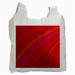 Abstract Red Background Fractal Recycle Bag (one Side)
