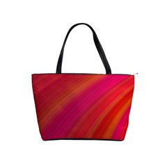 Abstract Red Background Fractal Shoulder Handbags