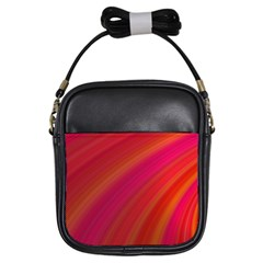 Abstract Red Background Fractal Girls Sling Bags by Nexatart