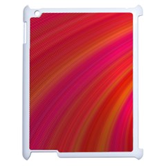 Abstract Red Background Fractal Apple Ipad 2 Case (white) by Nexatart