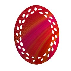 Abstract Red Background Fractal Ornament (oval Filigree) by Nexatart
