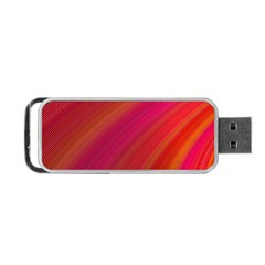 Abstract Red Background Fractal Portable Usb Flash (two Sides)