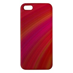 Abstract Red Background Fractal Apple Iphone 5 Premium Hardshell Case