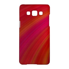 Abstract Red Background Fractal Samsung Galaxy A5 Hardshell Case  by Nexatart