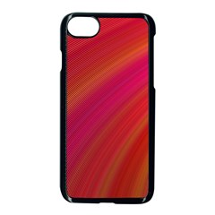 Abstract Red Background Fractal Apple Iphone 7 Seamless Case (black)