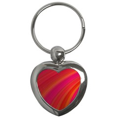 Abstract Red Background Fractal Key Chains (heart)