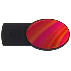 Abstract Red Background Fractal Usb Flash Drive Oval (2 Gb)