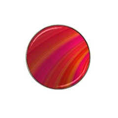 Abstract Red Background Fractal Hat Clip Ball Marker