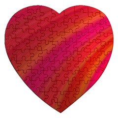 Abstract Red Background Fractal Jigsaw Puzzle (heart)