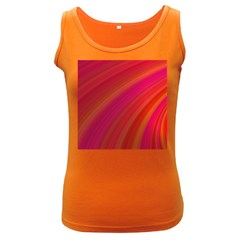 Abstract Red Background Fractal Women s Dark Tank Top