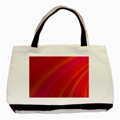 Abstract Red Background Fractal Basic Tote Bag by Nexatart