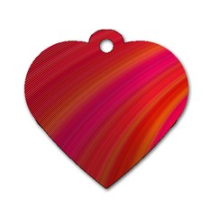 Abstract Red Background Fractal Dog Tag Heart (two Sides) by Nexatart